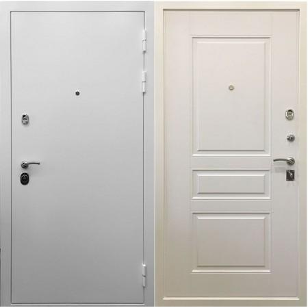 Входная дверь Ратибор Бланко 3К Белая шагрень / матовый белый