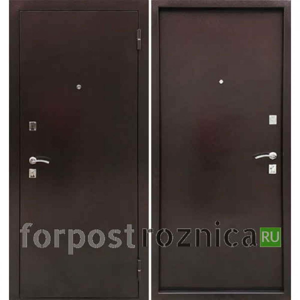 Металлическая дверь Ратибор Дачная (Антик медь / Антик медь)