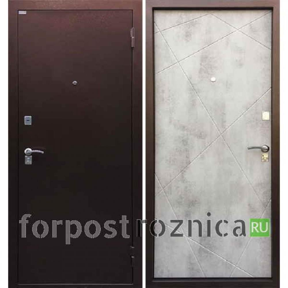 Металлическая дверь в квартиру Ратибор Рубеж (Бетон светлый)