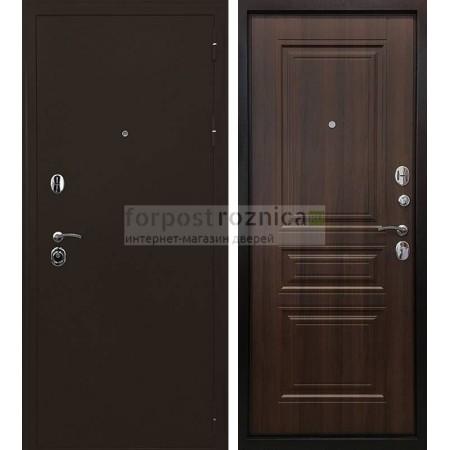 Входная дверь Ратибор Троя 3К Орех бренди ( трехконтурные)