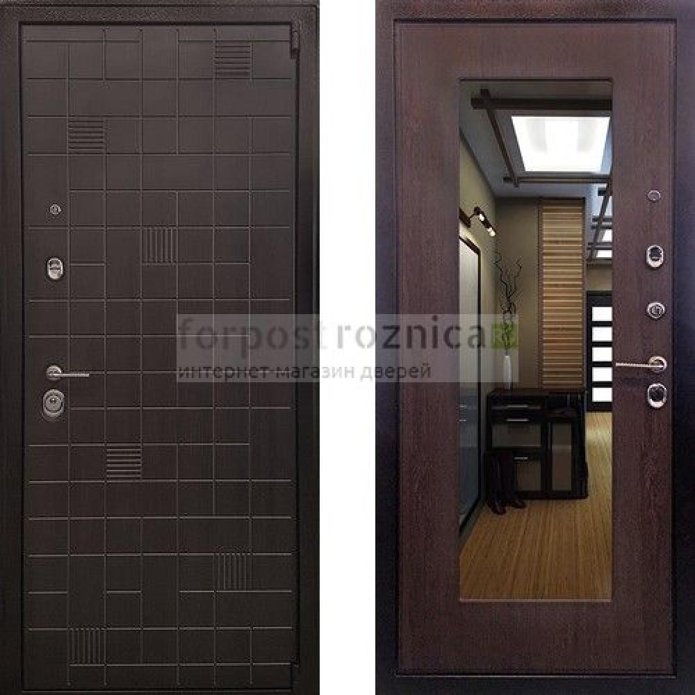Входная дверь Ратибор Силуэт 3К Венге Капучино (трехконтурные)