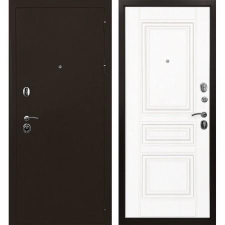 Входная дверь Ратибор Троя 3К Белый матовый (трехконтурные)