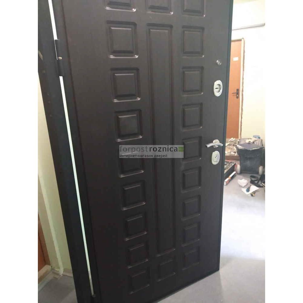 Входная дверь Рекс Премиум 3 Зеркало Беленый Дуб (С шумоизоляцией)