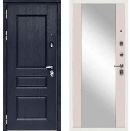Входная дверь Сударь МД-45 Роял Вуд синий - M15 Шампань с зеркалом