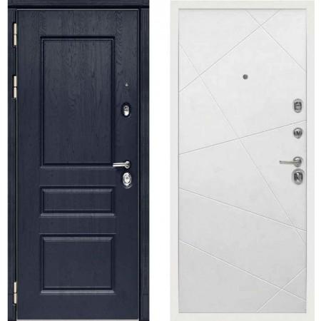 Входная дверь Сударь МД-45 Роял Вуд синий - M11 Белый софт