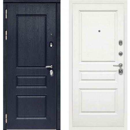 Входная дверь Сударь МД-45 Роял Вуд синий - M13 Белый софт