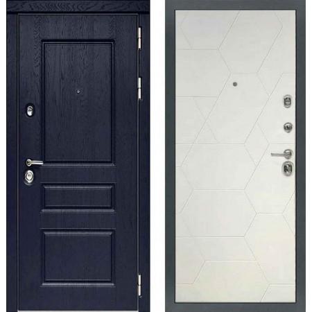 Входная дверь Сударь МД-45 Роял Вуд синий - M7 Белый софт