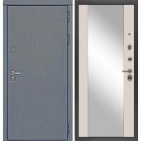 Входная дверь Сударь МД-91 Серый софт - M15 Шампань с зеркалом