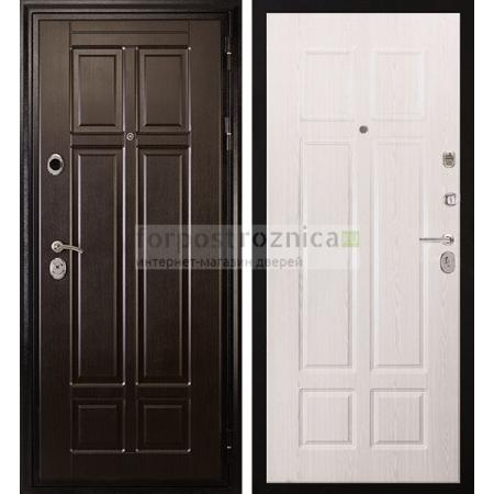 Входная дверь Сударь МД-07 Беленый дуб (с шумоизоляцией)