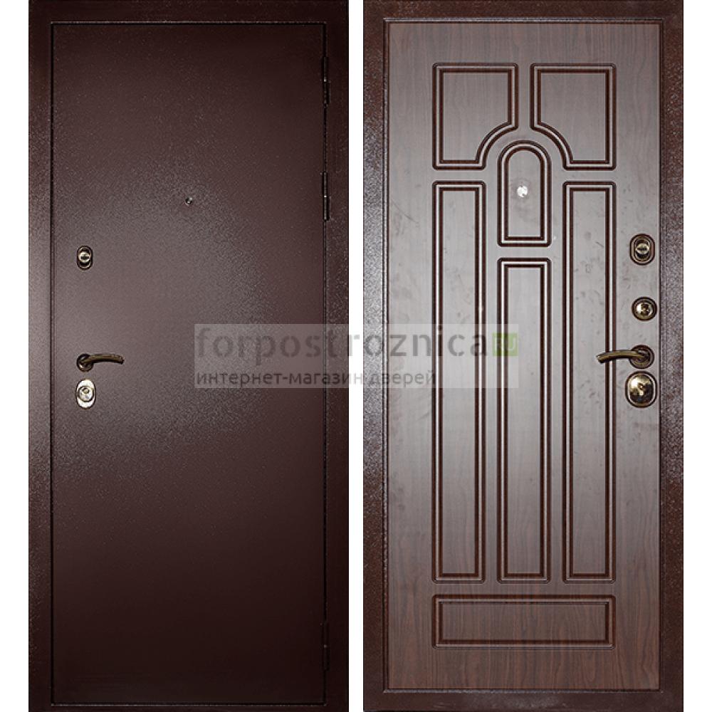Входная дверь Сударь МД-09 Орех (Антивандальные)