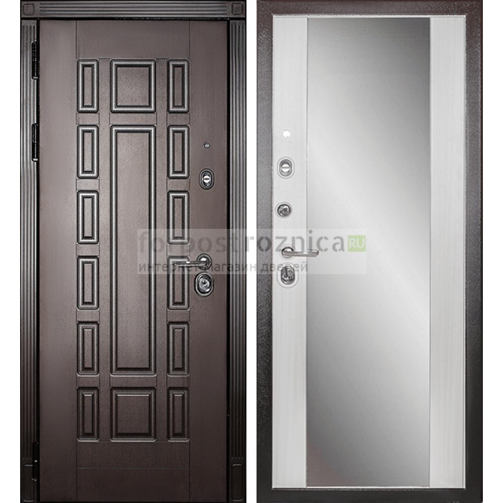 Входная дверь Сударь МД-38 с зеркалом (сейфовые)
