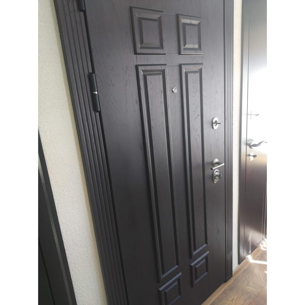 Входная дверь АСД Виват сосна белая (трехконтурные)