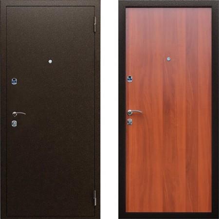Металлическая дверь для квартиры АСД Эконом в цвете итальянский орех (Антивандальные)