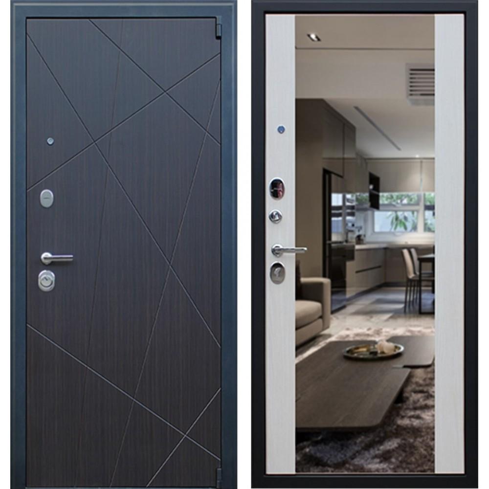 Входная дверь АСД «Вектор с зеркалом» (с шумоизоляцией)