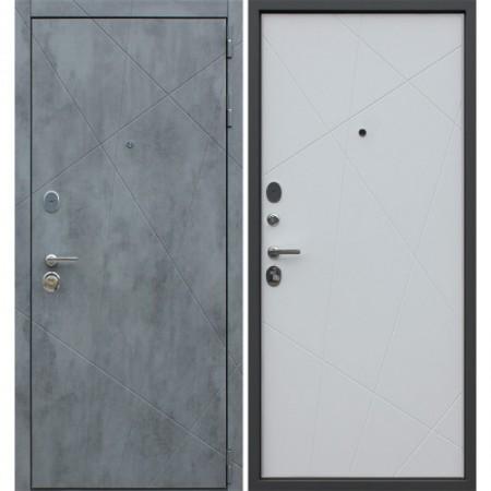 Входная дверь АСД «Дуэт Б» Белый матовый (Трехконтурные)