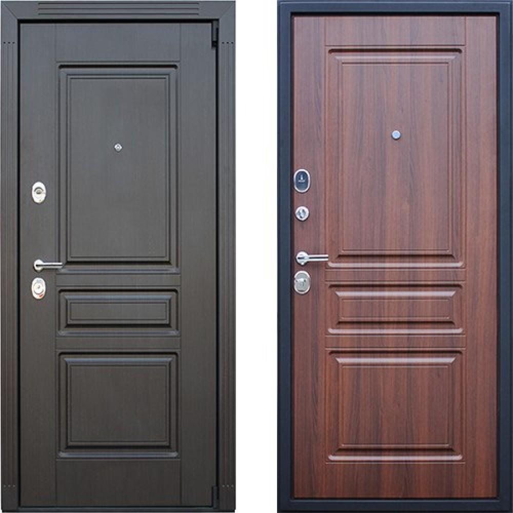 Входная дверь АСД Гермес NEW в цвете темный орех (сейфовые)