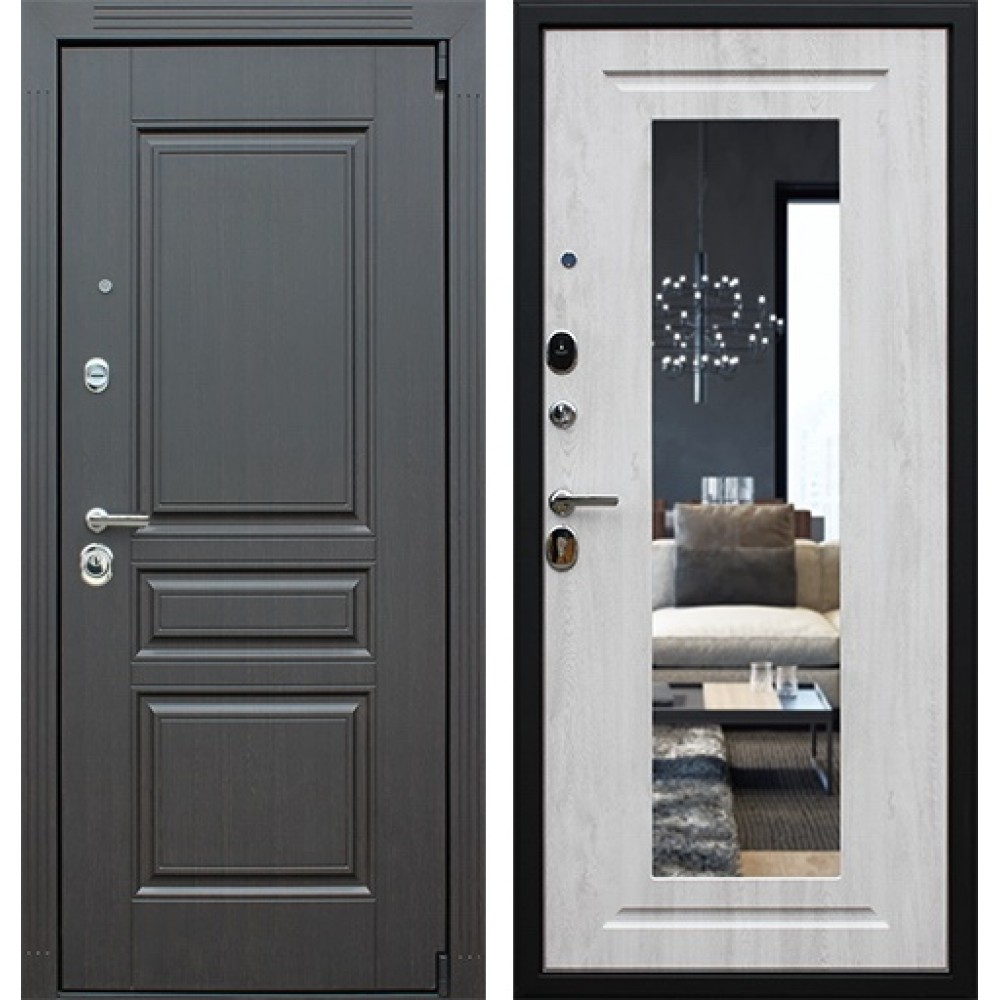 Металлическая дверь АСД Гермес  NEW с зеркалом ELIT (сейфовые)