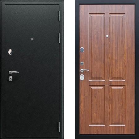 Входная дверь АСД Прометей 3D в цвете темный орех (сейфовые)