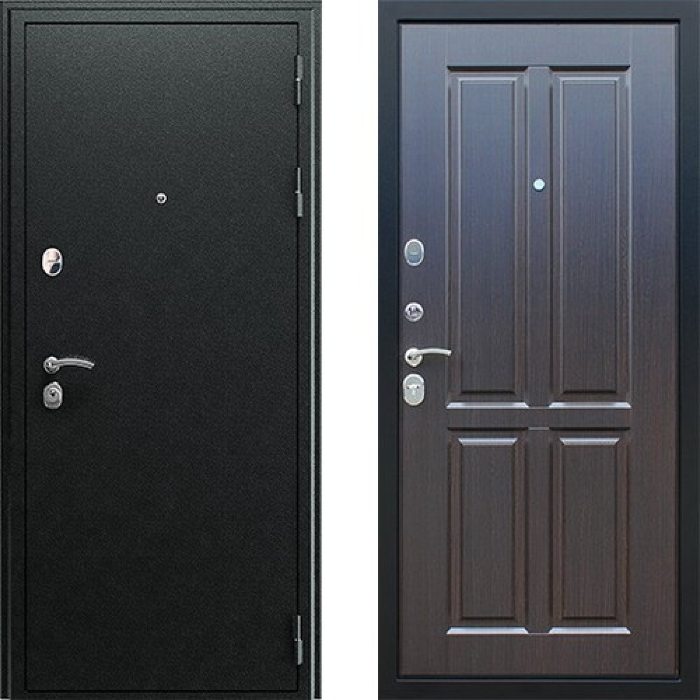 Входная дверь АСД Прометей 3D в цвете венге (сейфовые)