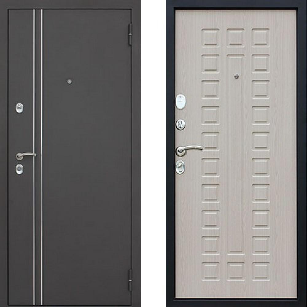 Входная дверь АСД 3К Арктика в цвете беленый дуб (С терморазрывом)