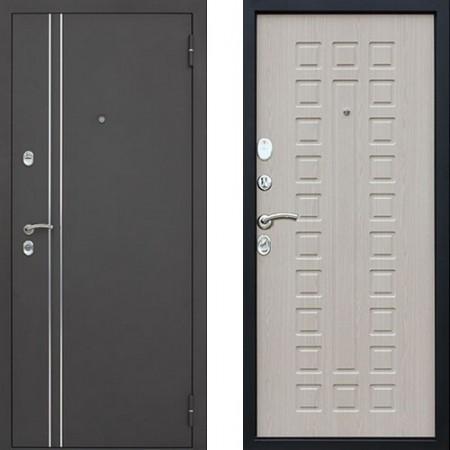 Входная дверь с терморазрывом для дома АСД 3К Арктика в цвете беленый дуб (С терморазрывом)