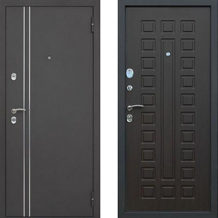 Входная дверь с терморазрывом для дома АСД 3К Арктика в цвете темный орех (С терморазрывом)