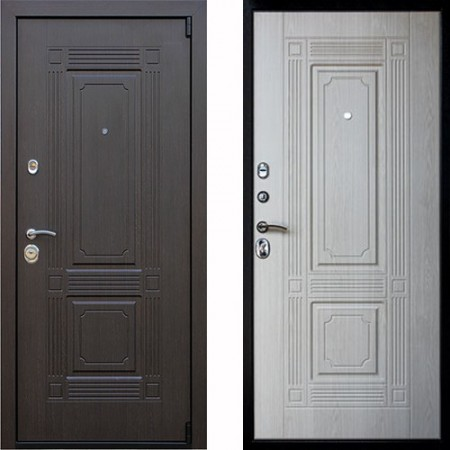 Входная дверь АСД Викинг в цвете беленый дуб (сейфовые)