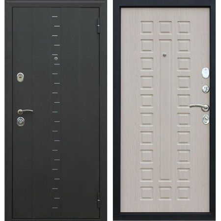 Входная дверь АСД Агата-3 в цвете беленый дуб (с шумоизоляцией)
