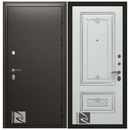 Входная дверь Кондор ПРЕМЬЕР с Накладкой Аккорд патина серебро