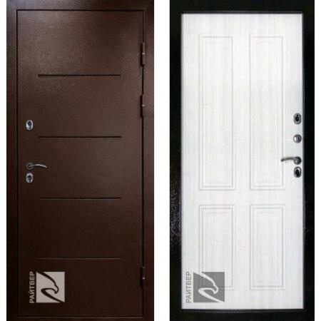 Входная дверь с терморазрывом для дома Кондор Термо Беленый дуб