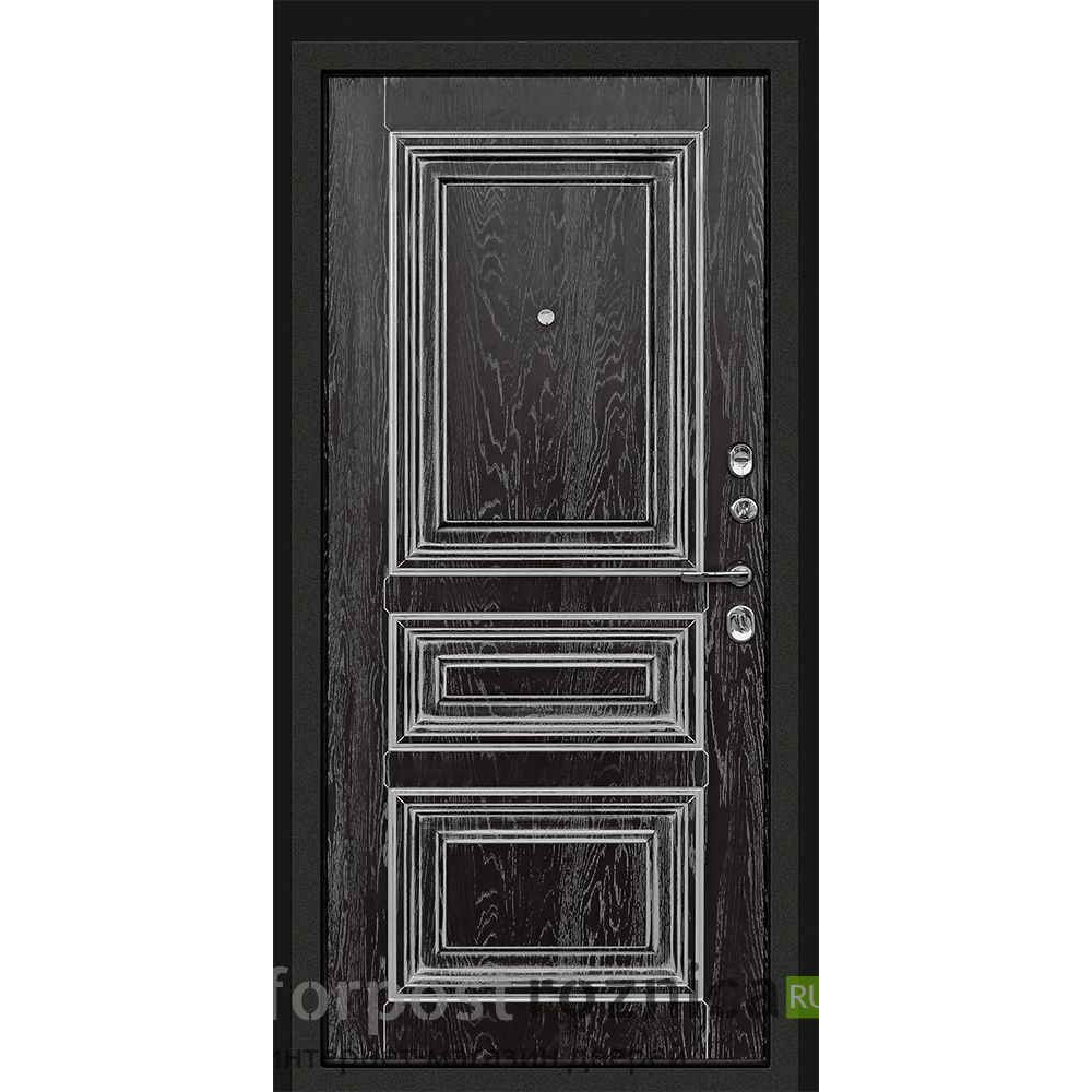 Входная дверь Континент Неро Черная с патиной (трехконтурные)
