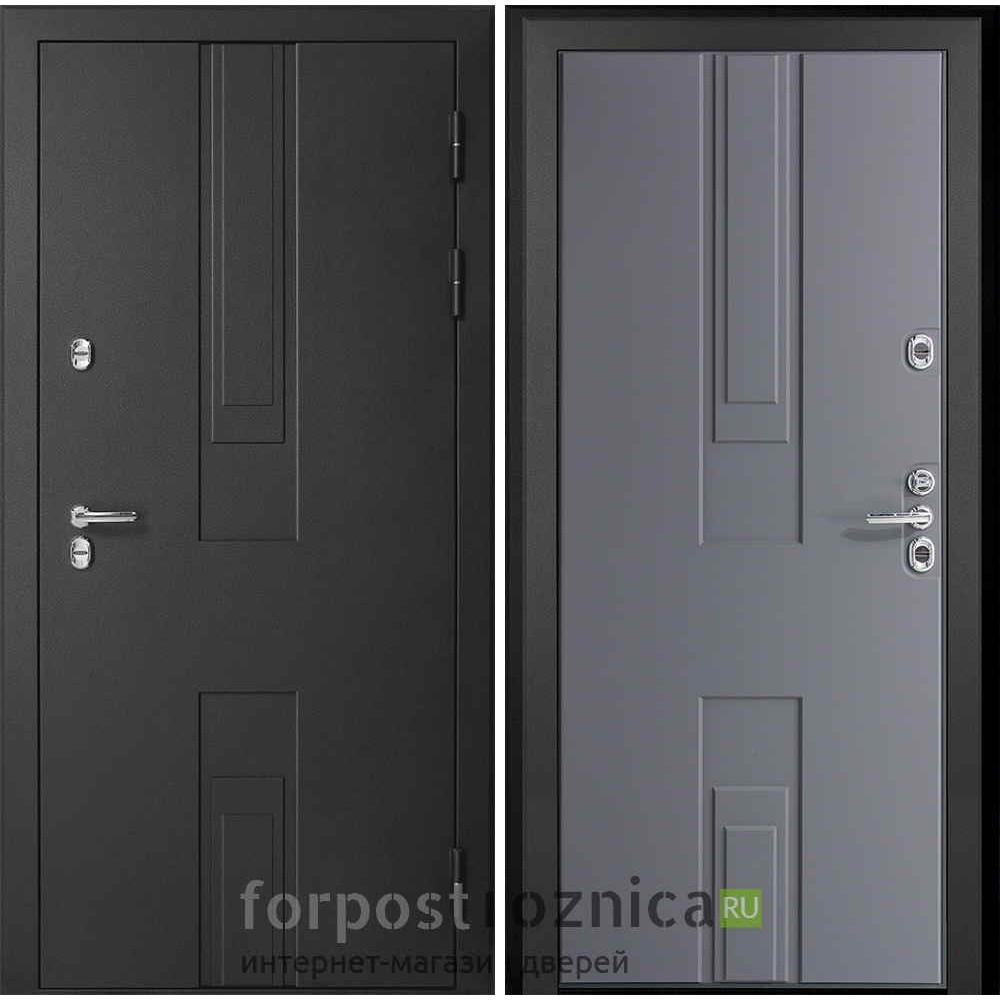 Входная дверь с терморазрывом для дома Континент Тоскана с терморазрывом серая (с терморазрывом)
