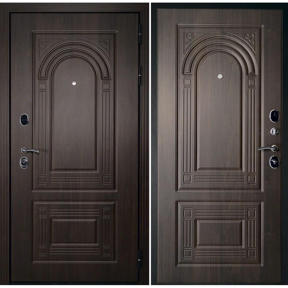 Входная дверь Континент  Флоренция Темный орех (с шумоизоляцией)