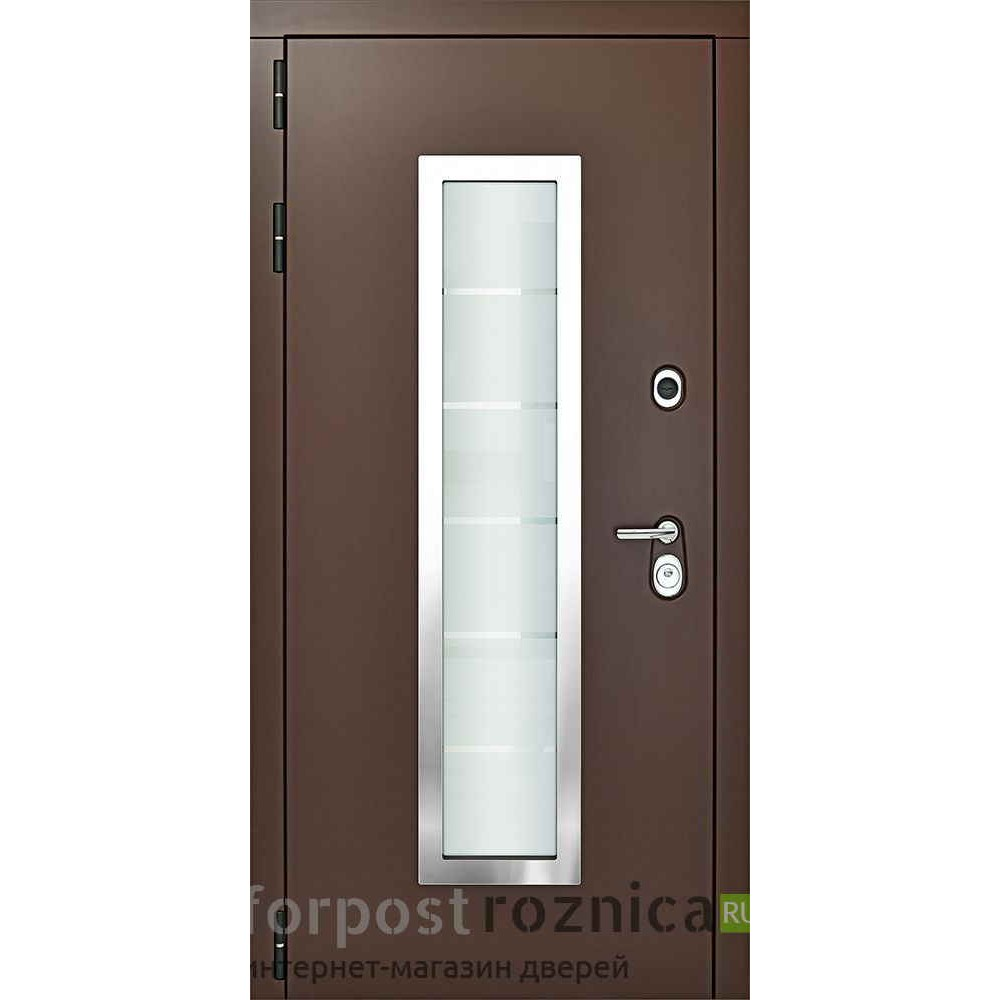 Входная дверь Континент Форте Коричневая (трехконтурные)