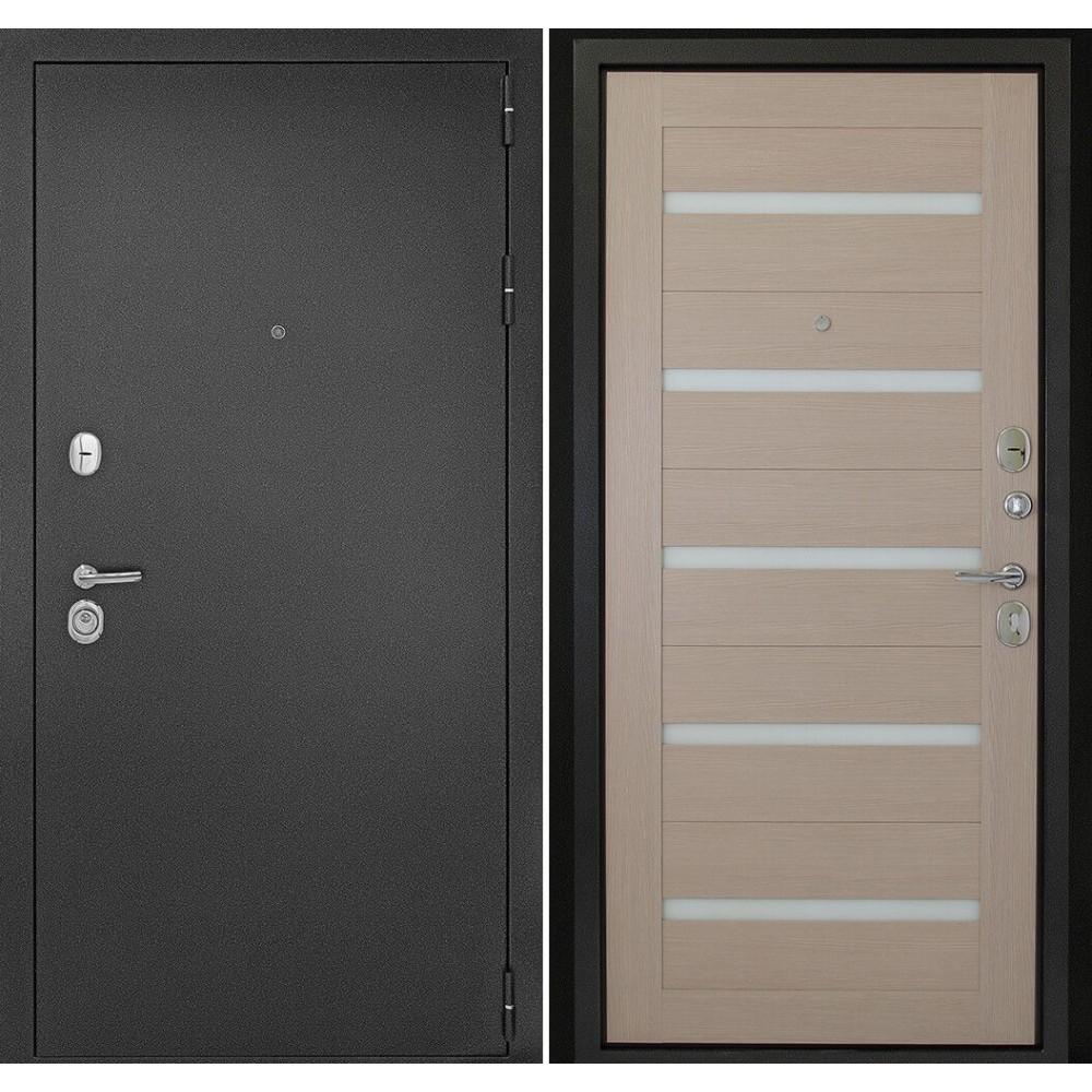 Входная дверь Континент Гарант-1 Царга Капучино (антивандальные)