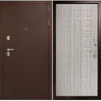 Металлическая дверь Континент Гарант-1 Сандал белый (трехконтурные)