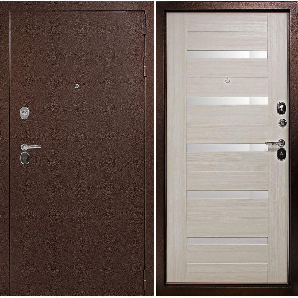 Входная дверь Континент -100 Царга Сандал белый (трехконтурные)