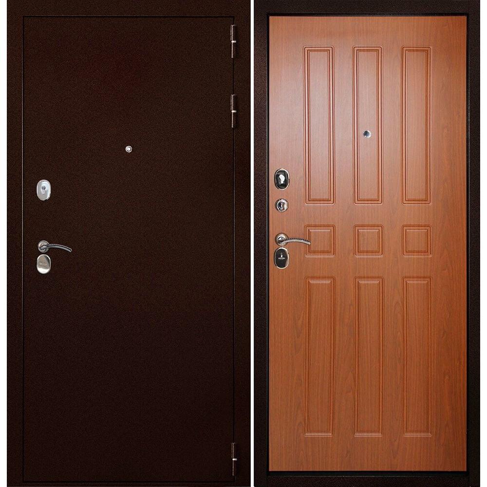 Железная дверь Континент-100 Орех (антивандальные)