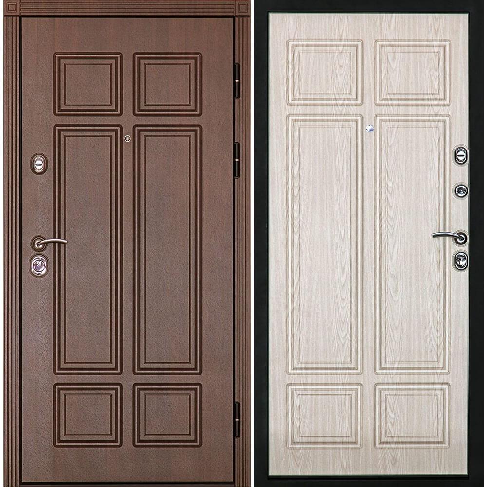 Входная дверь Континент Консул Беленый дуб (трёхконтурные)