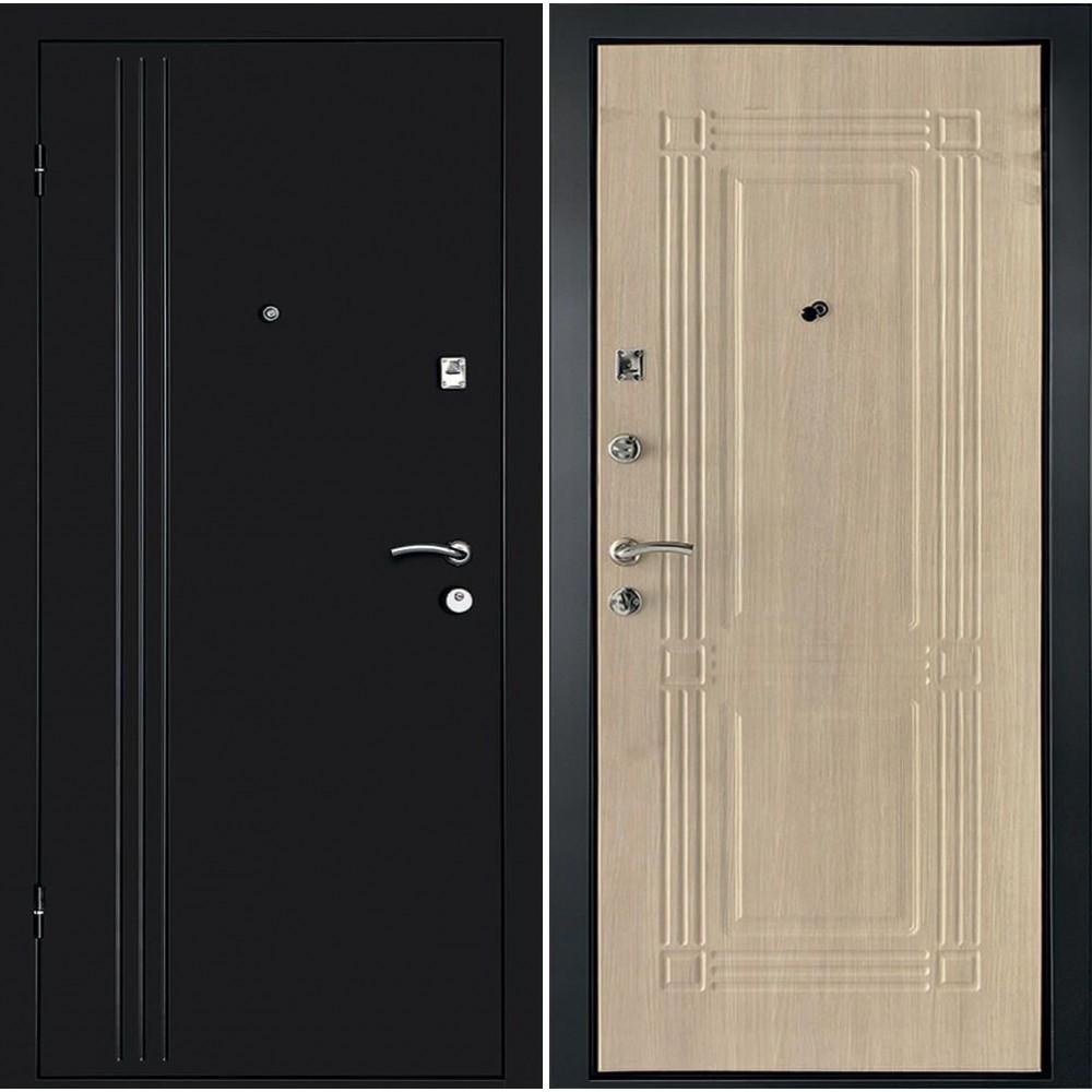 Дверь Континент Лайн  Беленый дуб (утепленные)