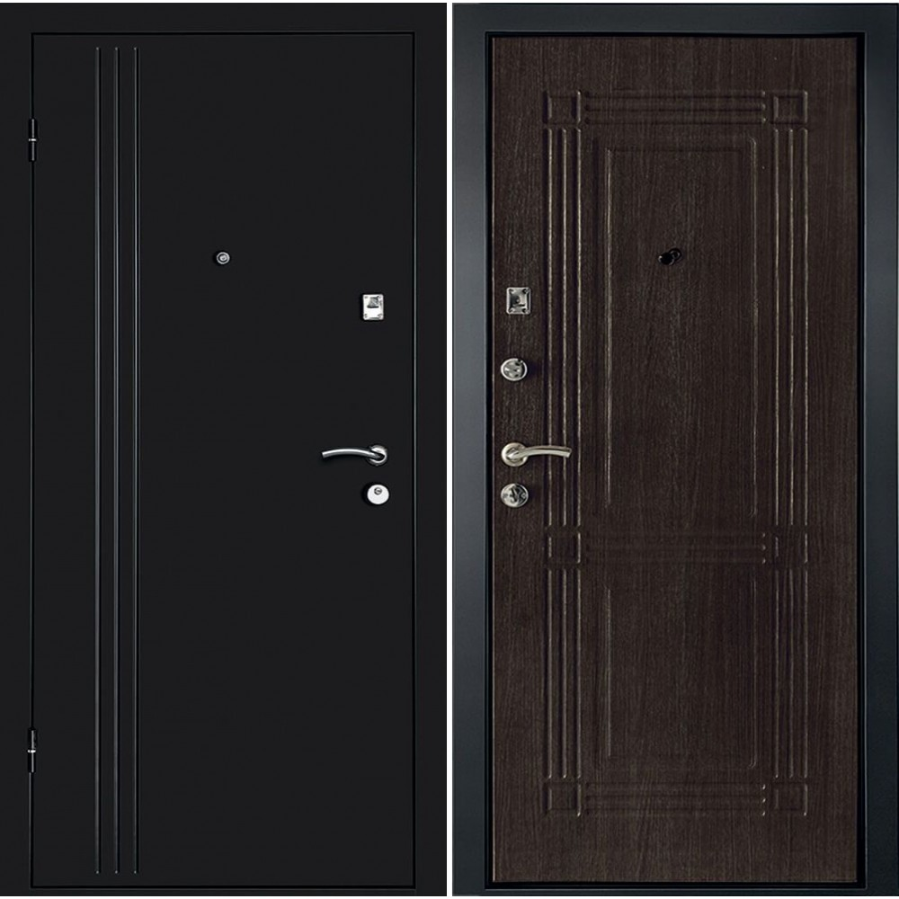 Входная дверь Континент Лайн в цвете венге (утепленные)