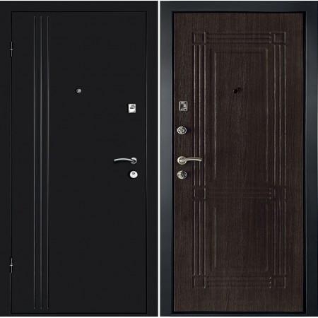 Дверь в квартиру Континент Лайн в цвете венге (утепленные)