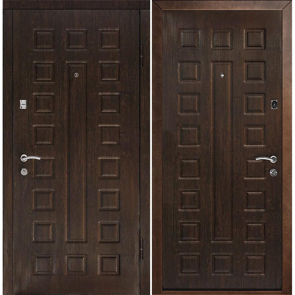 Входная дверь Континент Люкс Венге (утепленные)