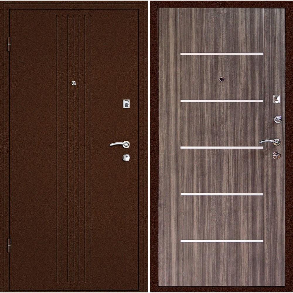 Входная металлическая дверь Континент  Синергия Дуб сонома (Антивандальная)