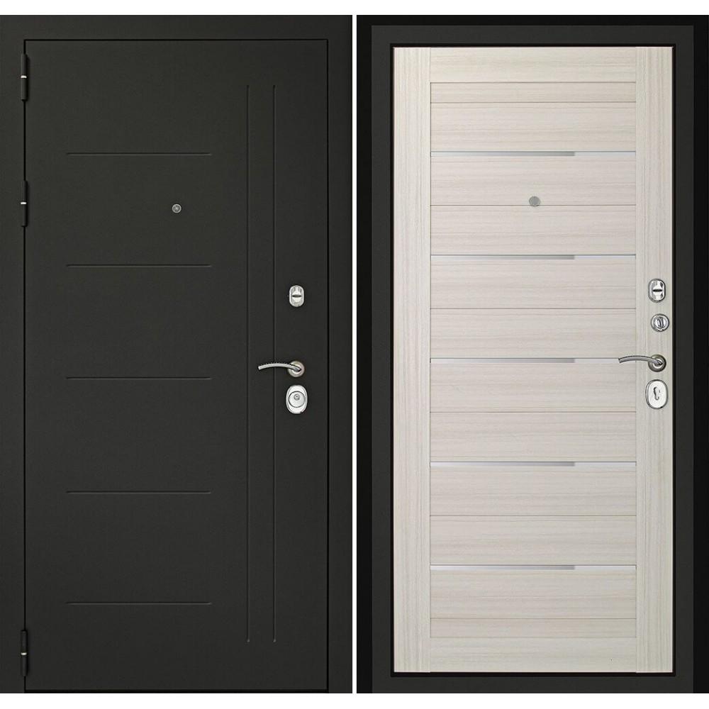 Входная дверь Континент Сити-С3К  Беленый дуб (с шумоизоляцией)