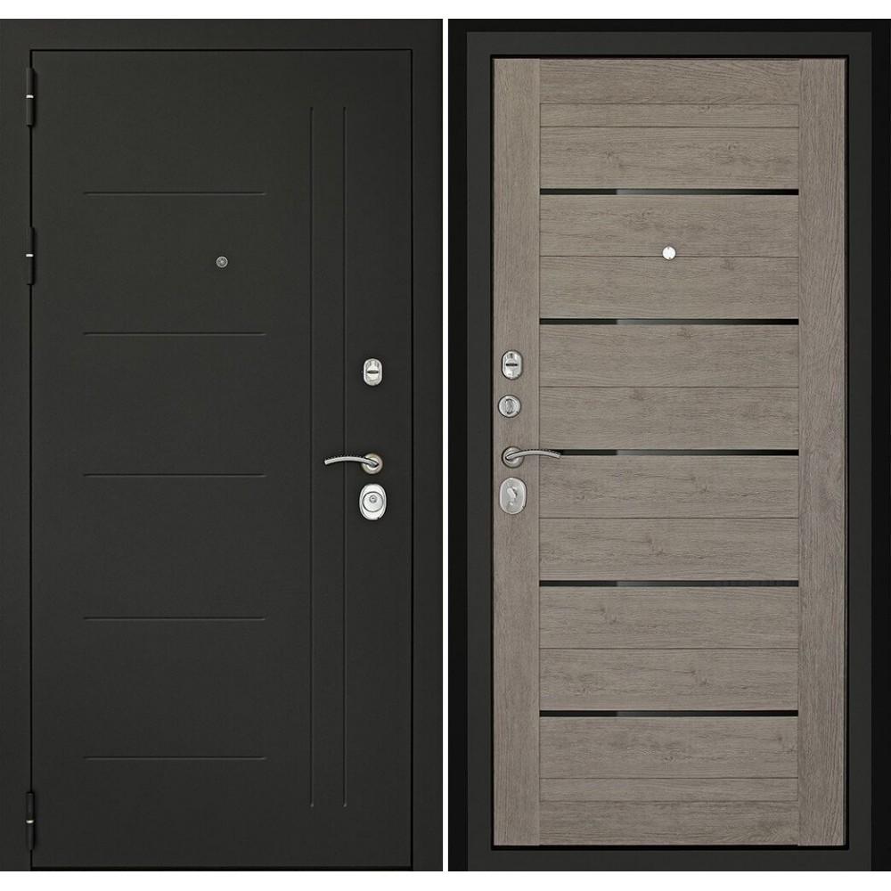 Входная дверь Континент   Сити-С3К Лиственница серая (утепленные)