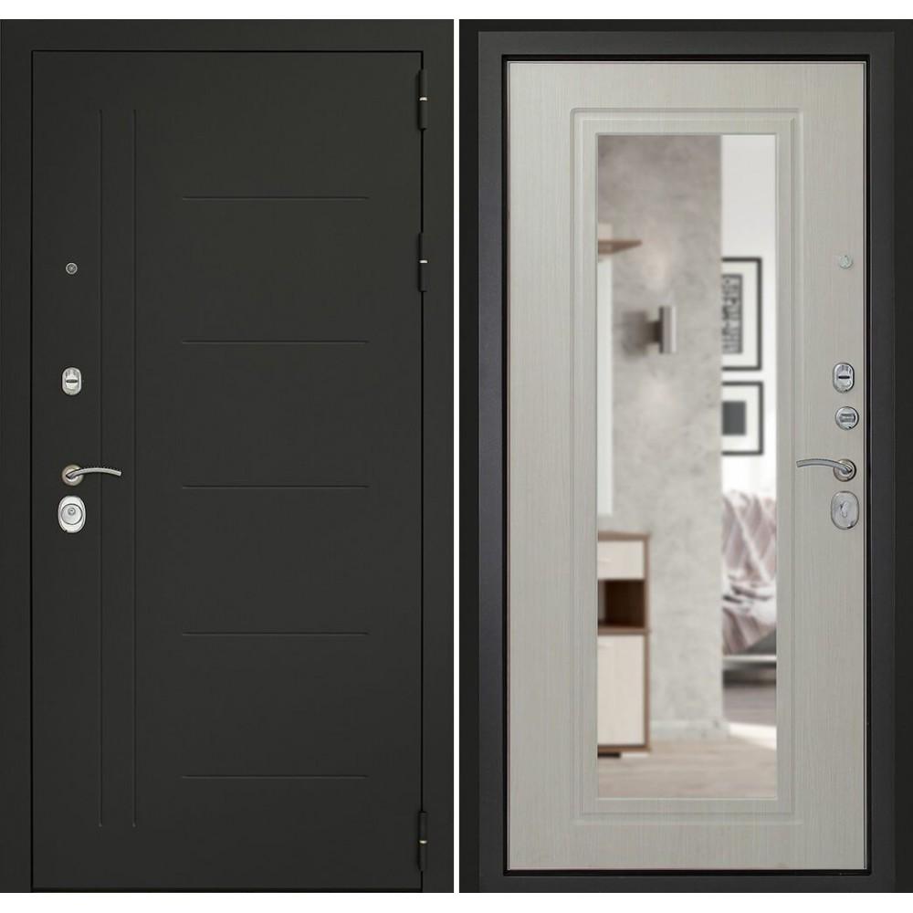 Входная дверь Континент  СИТИ-Z3К Беленый дуб (утепленные)