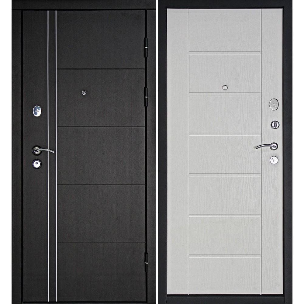 Входная дверь Континент Тепло-Люкс Беленый дуб (с шумоизоляцией)