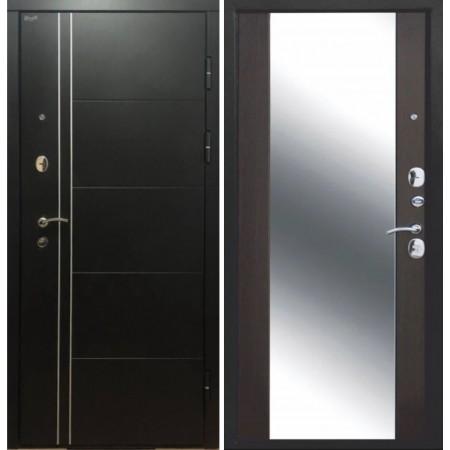 Металлическая дверь  Континент Тепло-Люкс 3К Зеркало Венге