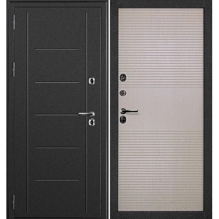 Входная дверь с терморазрывом для дома Континент Термаль Беленый дуб (утепленные)